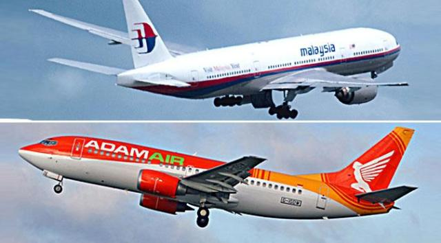 Adam Air Malaysia Airlines